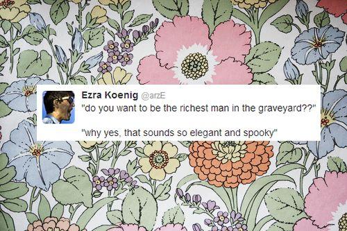 ezra koenig tweets - Google Search