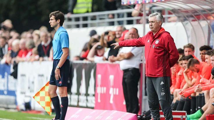 Lippstadt - Der FC Bayern hat das Debüt von Carlo Ancelotti auf der Trainerbank des Rekordmeisters nur mit Mühe siegreich gestaltet. Die Bayern setzten sich in ihrem ersten Testspiel knapp mit 4:3 (3:0) gegen den Fünftligisten SV Lippstadt durch.