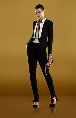 In the 1920s many women called themselves by men's names, 'to make up the numbers' after the war. You can do the same in 2012 in this cool suit. Lor', I want...