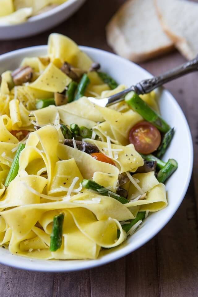 Simple Vegetable Pappardelle