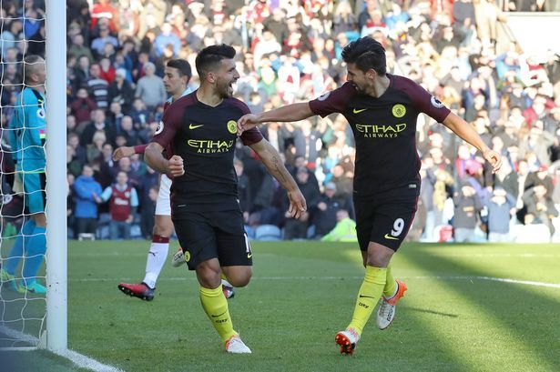 Congrats to Sergio after scoring against Burnley.