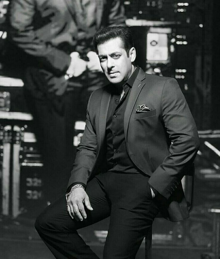 Black and white Being Salman...