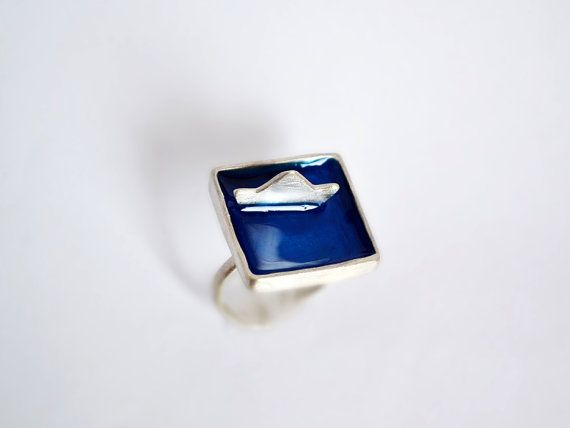 Boat Ring / Summer In Greece Collection / Ship Ring / by Bubblebox