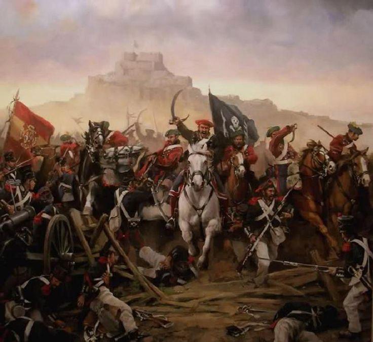 El general Cabrera rompe el cerco de Morella, obra de Augusto Ferrer-Dalmau