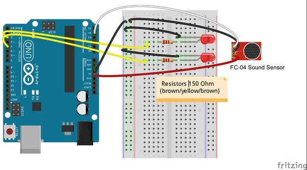 Simple FC-04 Sound Sensor Demo