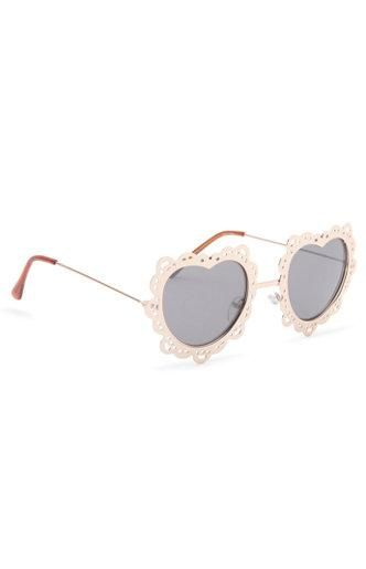 7a03a8a8b34dc With Love From CA Lace Metal Heart Sunglasses  pacsun