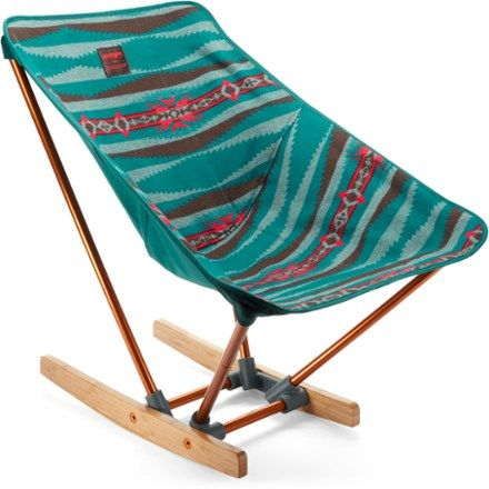 Born from a collaboration between two Northwest natives, the evrgrn with Pendleton Campfire Rocker is a compact, portable chair that's easy to pack so you can rock out wherever you want. Available at REI, 100% Satisfaction Guaranteed.