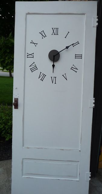 great idea for a front door. install a clock so that the time is the last thing you see when you leave the house!