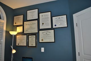 The rich wall color really makes this Wall of Fame stand out! From dull to impressive... nice!