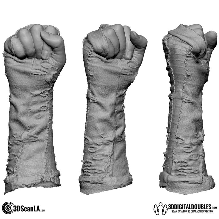 3D Head and Body Scanning for 3D Character Design   3D Hand Scan 01-23