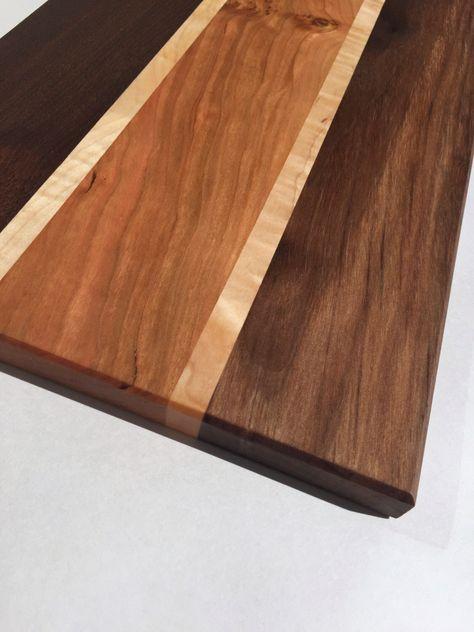 Large Cutting Board - Wood Cutting Board - Edge Grain Cutting Board - Large Butcher Block - Walnut, Cherry, Maple - Handmade, by GibsonBoards on Etsy https://www.etsy.com/listing/265405371/large-cutting-board-wood-cutting-board