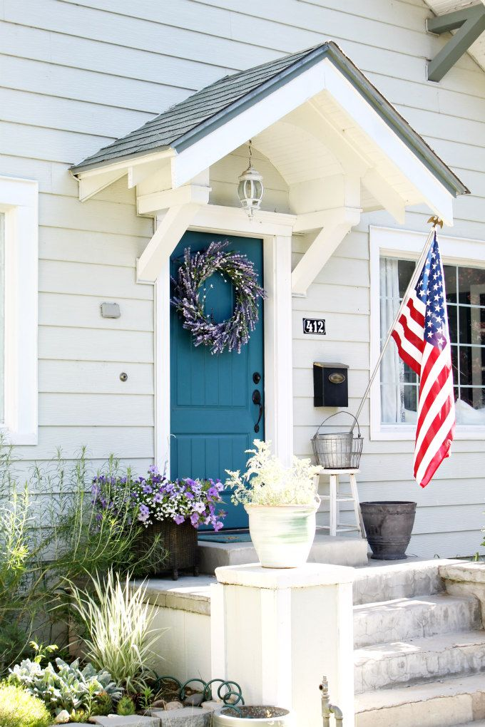 Pretty blue door & 370 best images about Porches and Doors on Pinterest ... Pezcame.Com