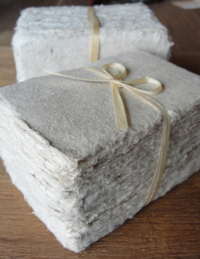 french handmade paper--for love notes/desk accessory