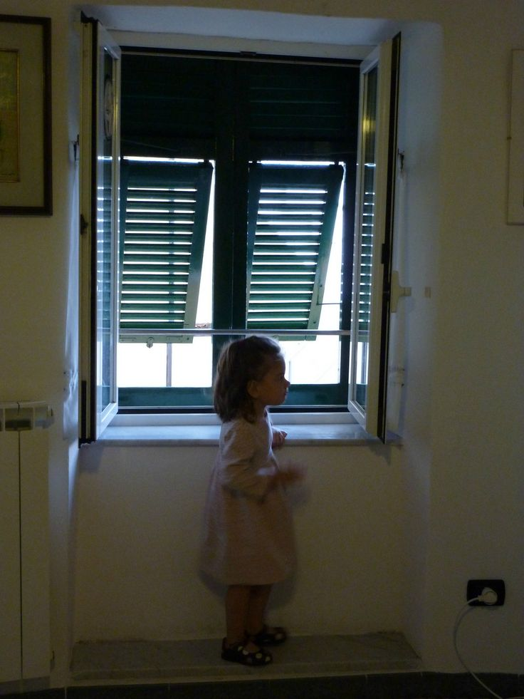 Italian windows. Manarola - Cinque Terre