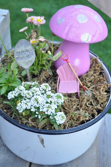 darling fairy houses at this site – Fairy Garden Tea Party