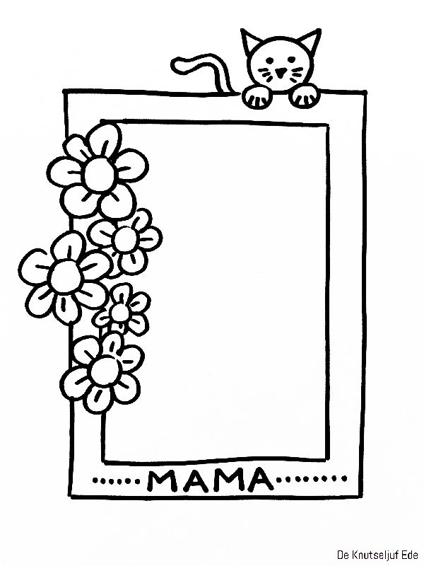 Voor Mama Fotolijstjes Om Te Kleuren Voor Moederdag Kleurplaat