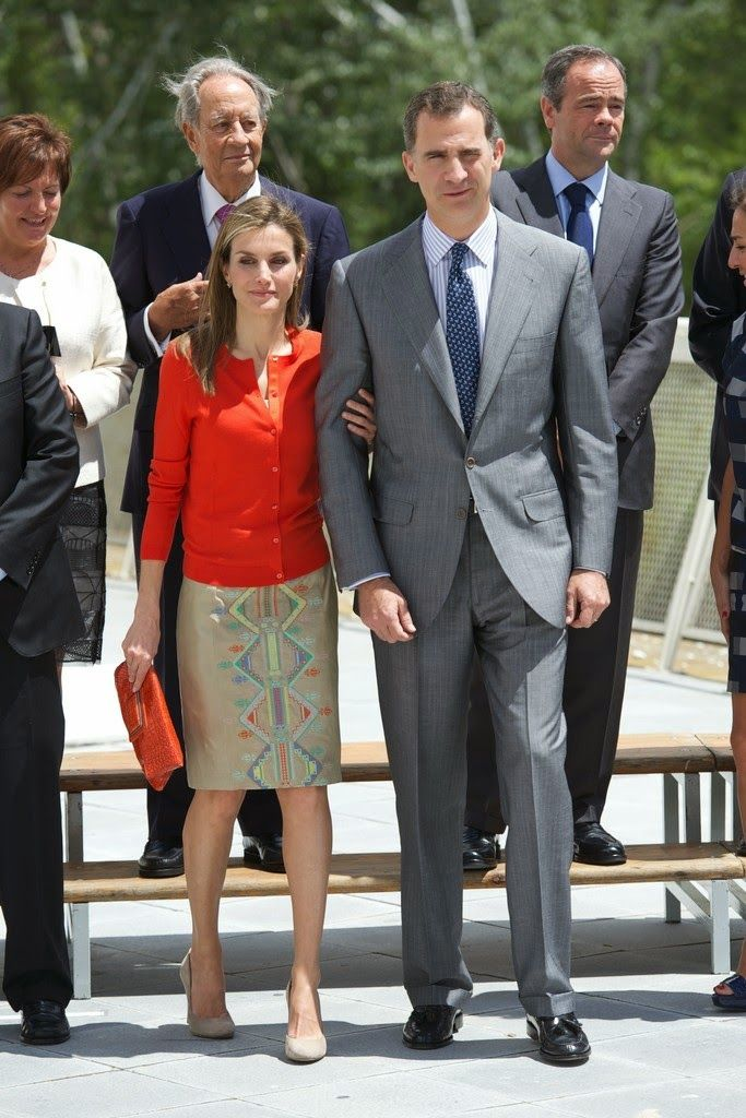 MYROYALSHOLLYWOOD FASHİON:  King Felipe and Queen Letizia attended the National Innovation and Design Awards 2013, Museo de la Ciencia de Valladolid, July 1, 2014