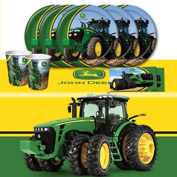 John Deere Party Supplies Party Tableware Tractor Tablewares Birthday Parties Dinner Ware Birthday Celebrations Dinnerware Anniversary Parties & 25 best John Deere Party Supplies images on Pinterest | Birthday ...