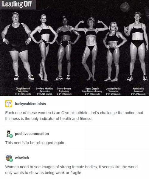 feminist, fit, and Olympians #FITNESSHUMOR