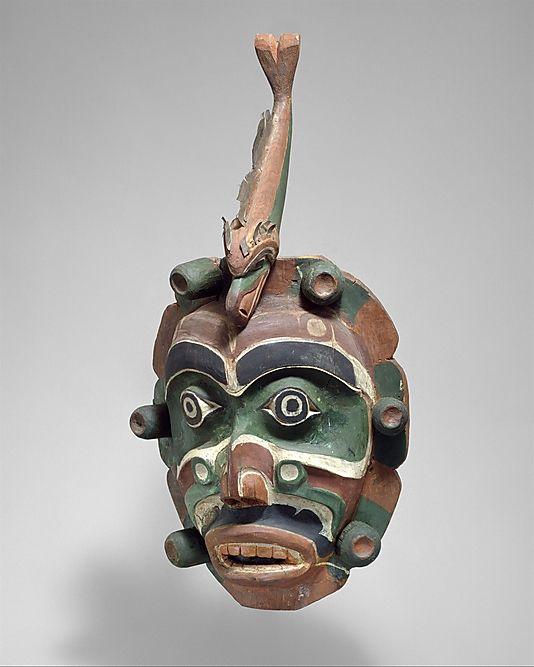 1920-1925 Kwakwaka'wakw (First Nations) Yagim Mask by George Walkus at the Metropolitan Museum of Art, New York