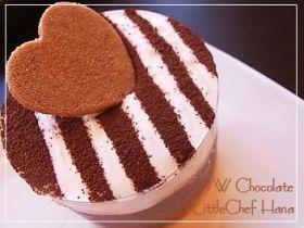 「とっておきWちょこのババロアケーキ」kanatable | お菓子・パンのレシピや作り方【corecle*コレクル】