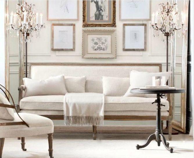 Paris A.Decor, Restoration Hardware, Interiors, Livingroom, Living Room, Floors Lamps, Small Spaces, Sitting Room, Studios Couch