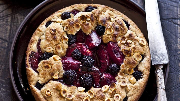 Karen Martini's plum, blackberry and hazelnut shortcake. The fruit makes for a gooey, jammy core and the rich, crumbly shortcake is packed with flavour. Just add a dollop of cream.