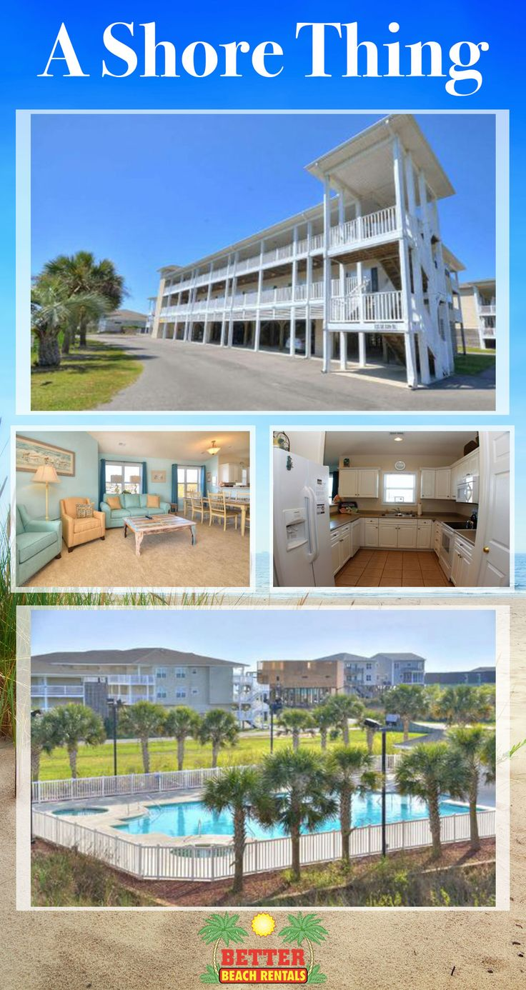 "Military, Federally Employed, & ""Friends & Family"" Discount 10% off Base rental at A Shore Thing in Oak Island, NC. Call Better Beach Rentals today to book this 3 bedroom, ocean view condo!"