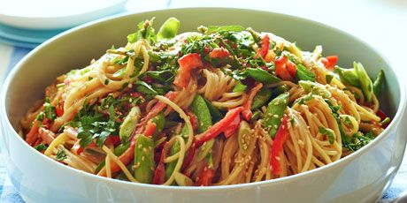 Crunchy Noodle Salad - this was delicious! I added sriracha to the sauce, and used cilantro instead of parsley, but it was so delicious! could top with more cilantro, and squeezed lime!