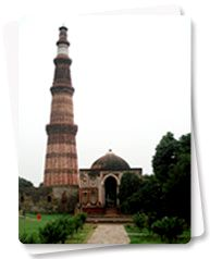 Qutab Minar, Delhi  - Beautiful place... But now, the iron pillar is not reachable ( earlier, you could try putting your hands around it, for luck )
