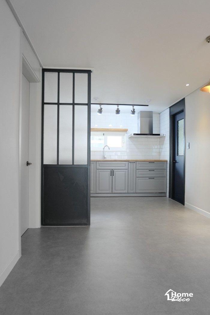 주방 냉장고 파티션 가벽과 이케아 주방가구가 설치 시공된 30평대 아파트 인테리어안녕하세요 홈데코 인테 인테리어 집 내부 집