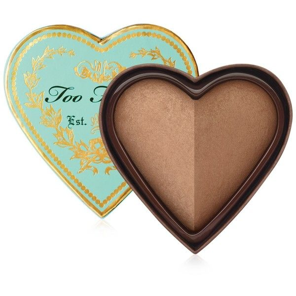 Too Faced Sweethearts Baked Luminous Glow Bronzer found on Polyvore featuring beauty products, makeup, cheek makeup, cheek bronzer, no color and too faced cosmetics