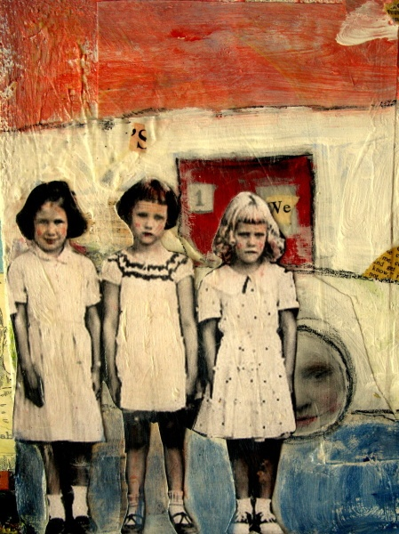 ∴ Trios ∴ the three graces & groups of 3 in art and photos - Collage - Heather Murry