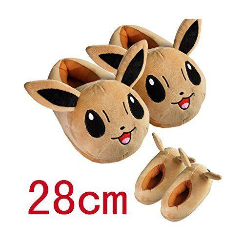 "Huajun®9 Style 11""28cm Pokemon Pikachu Eevee Sylveon Umbreon Espeon Jolteon Flareon Poke Ball Plush Slippers Stuffed Plush Shoes (Brown) Huajun® http://www.amazon.com/dp/B01501AZCQ/ref=cm_sw_r_pi_dp_2d30wb0SHR32J"
