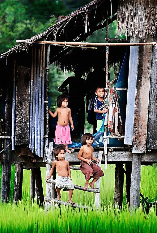 Children of the World ~ on Khong Island in southern Laos