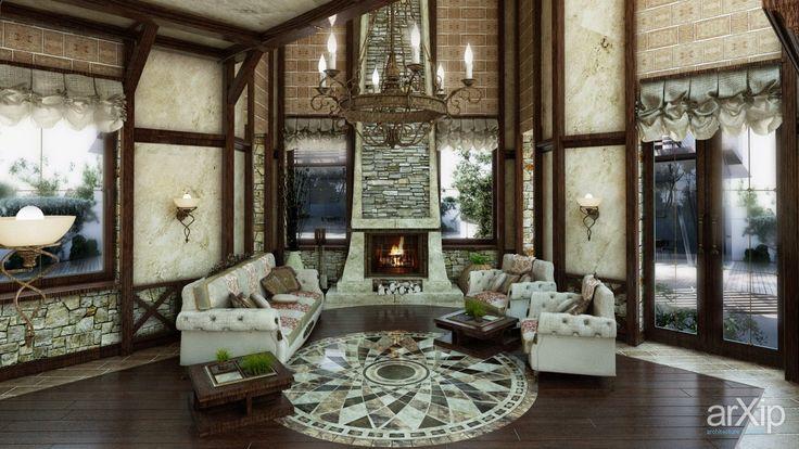 Фото частный дом в замковом стиле г.Киев - дизайн интерьера, зd визуализация, квартира, дом, гостиная, 50 - 80 м2, готический, интерьер