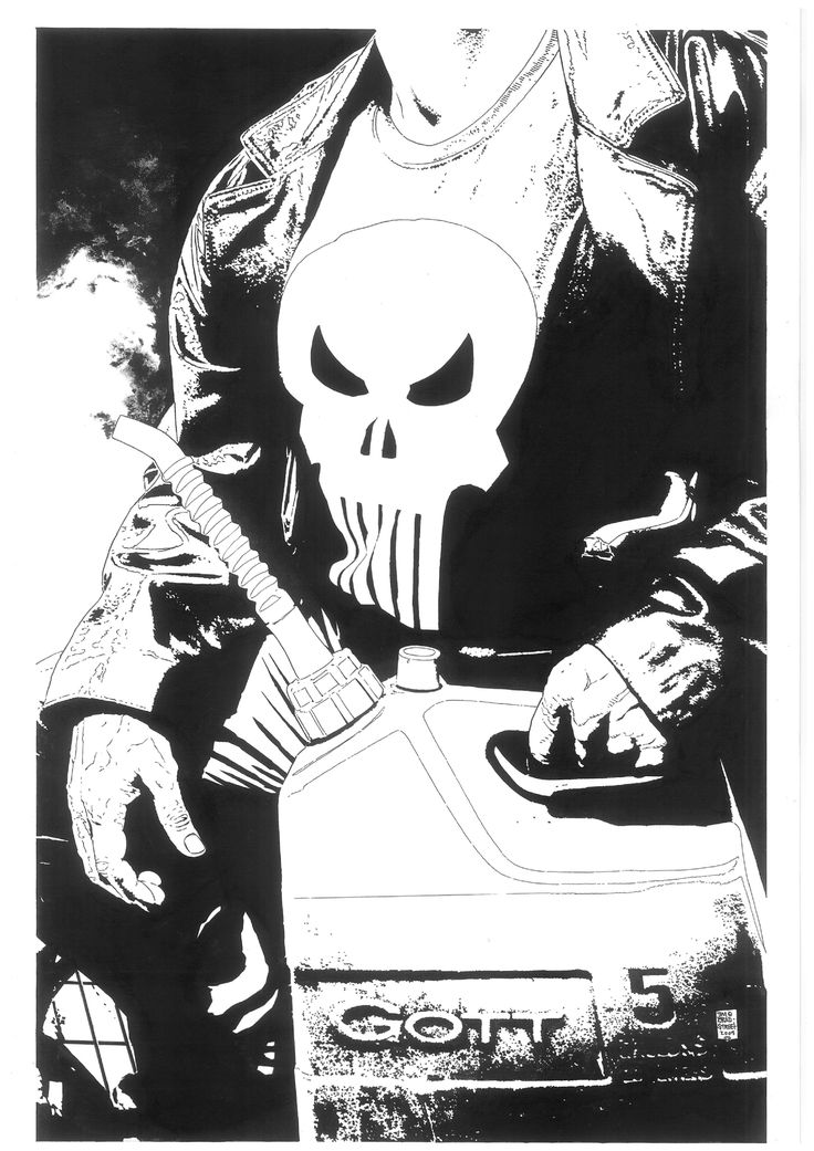 The Punisher (2004 7th Series) #30 CoverOriginal Comic Art - W.B.