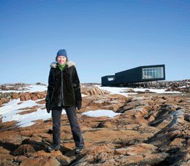 Creative Community... Zita Cobb, Founder of Shorefast's Keystone Project, an artist-in-residence program. More than 40 filmmakers, writers, artists and curators from around the globe will each year collaborate with local Fogo Island artists in Newfoundland.