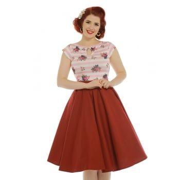 Dido' Pink Floral Stripe Jersey Top