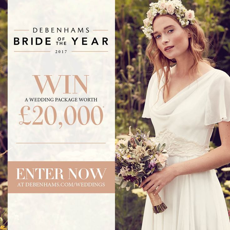 WIN a Debenhams wedding package worth £20,000! From beautiful outfits and accessories for the bridal party, to a dream Virgin Holidays honeymoon worth £10,000, we'll supply all you need to make it a day to remember. Enter today!