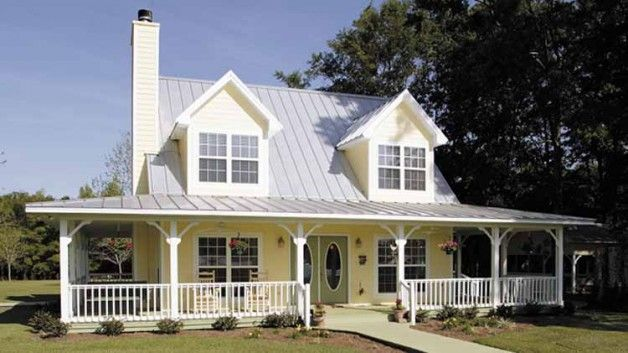 Floor Plans of This Beautiful Country Home w/ Wrap-Around Porch! | Metal Building Homes