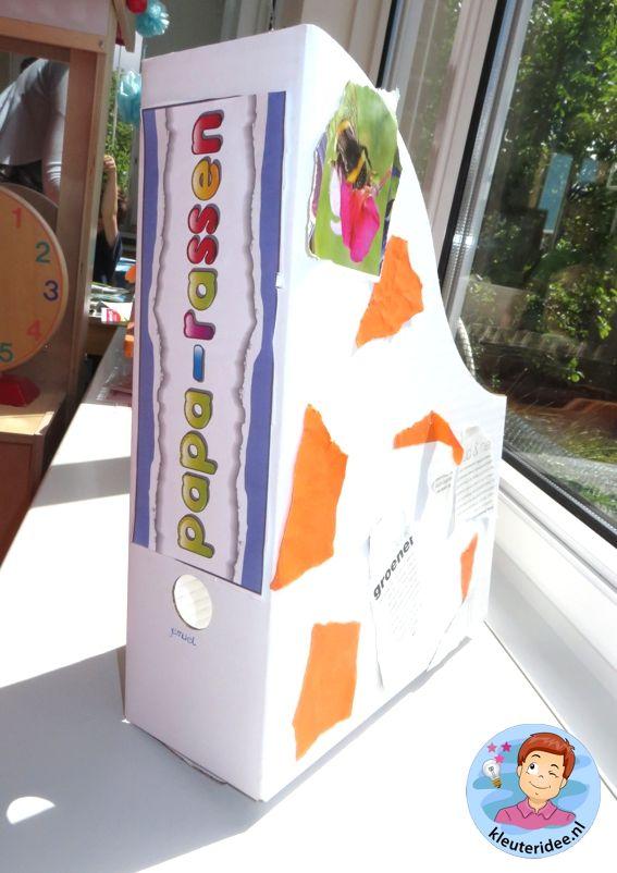 Tijdschriftcassette voor vader, kleuteridee.nl, vaderdag voor kleuters
