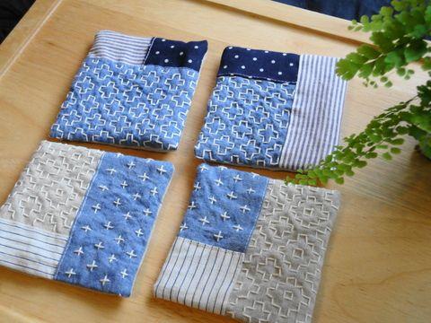 sashiko patchwork coasters