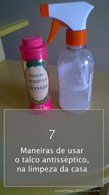 Casa e Fogão: 7 maneiras de usar o talco na limpeza de sua casa
