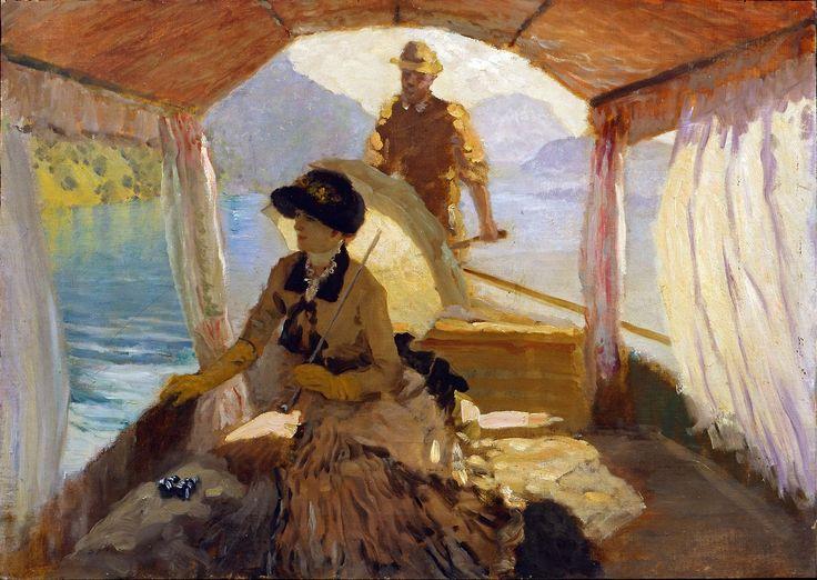 """Sul Lago dei Quattro Cantoni"" by Giuseppe de Nittis, 1881"