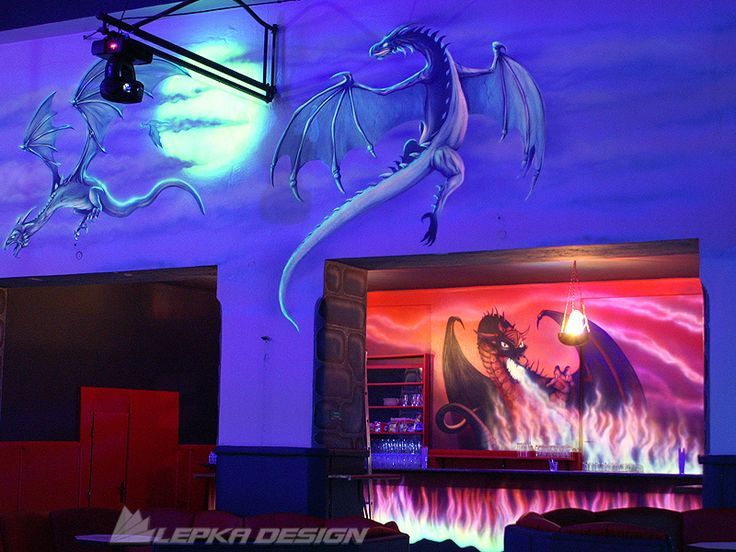 Main and totally unique products of LEPKA DESIGN are undoubtedly hand - wall painting. Images are created either directly on the walls or on a special canvas in the studio and then they are stretched onto special frames in the designated area. Very impressive are paintings which use UV colours because they react to UV light and achieve very interesting effects.