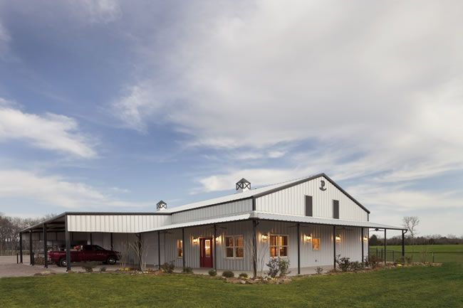 Fantastic metal building home a shop under one roof in for Metal barn homes in texas
