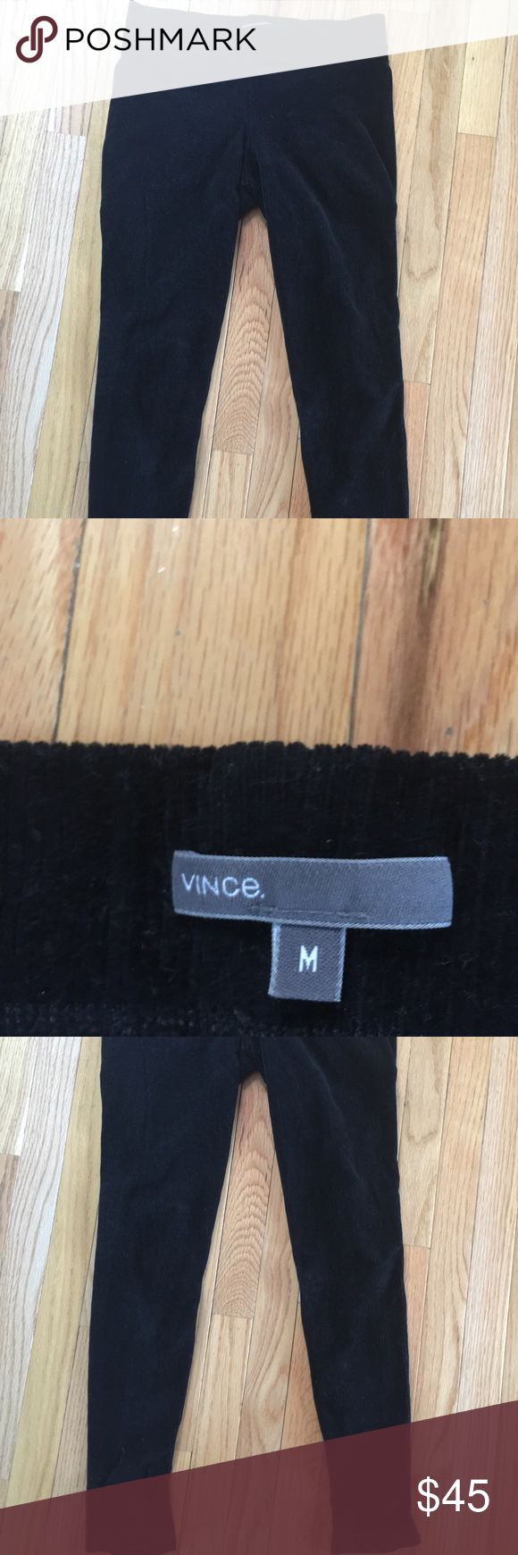 Vince leggings, black corduroy Comfy and casual Vince black corduroy leggings. Really warm. Only worn twice so like new, they've just been sitting in a drawer folded. Make me an offer! Vince Pants Leggings