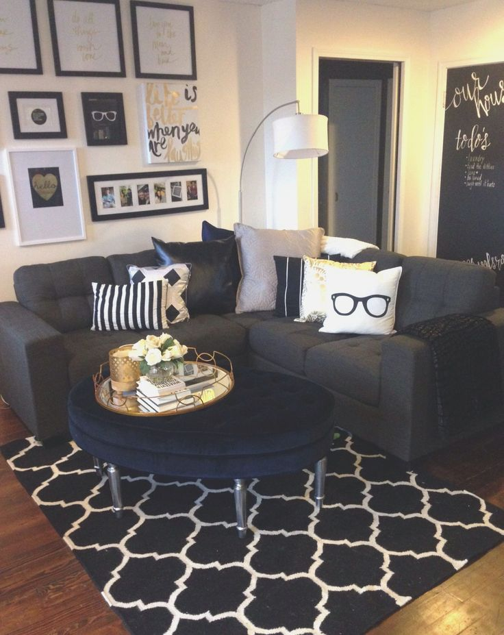 Black Couch Living Room Ideas black