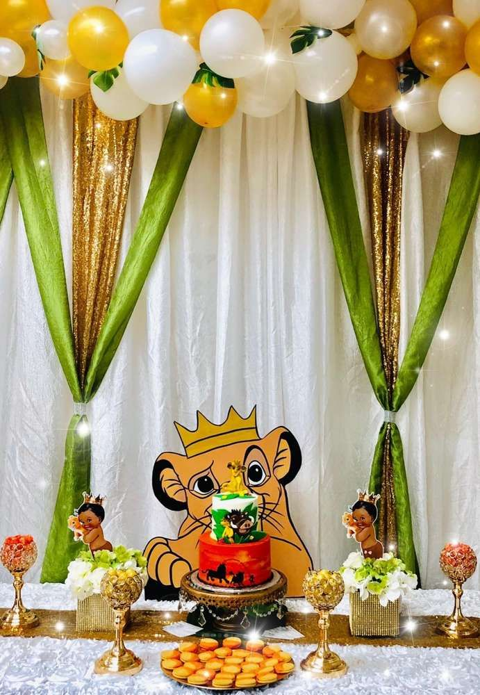 "Lion King Baby Shower : shower, ""Hakuna, Matata"", Shower, Party, Ideas, Photo, Shower,, Decorations"
